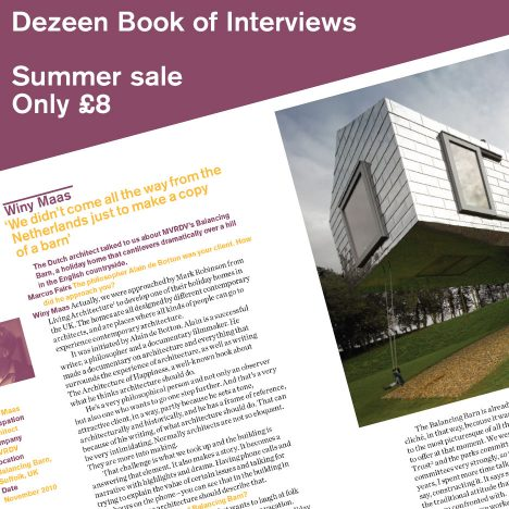 Dezeen Book of Interviews summer sale