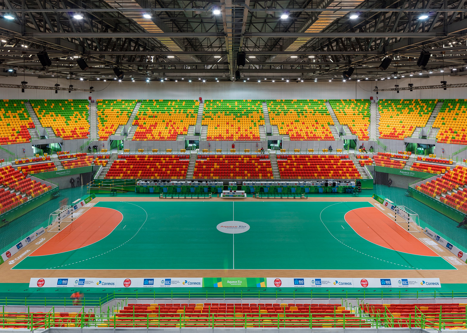 Handball Arena, Barra Olympic Park, by Lopes, Santos & Ferreira Gomes and AndArchitects