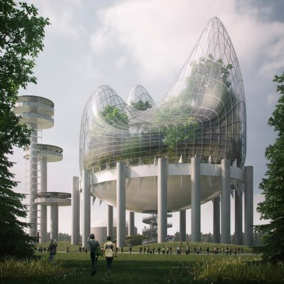Hanging Meadows, winner of New York State Pavilion Ideas Competition