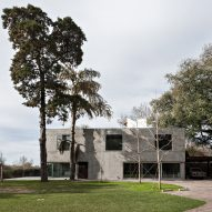 Pabellon Hinrichsen is a chunky concrete outbuilding for a house in Argentina
