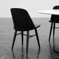 Falke Svatun designs thin-backed Synnes Chair for Menu