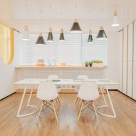 "RIGI designs waiting area ""like a dining room"" for dental clinic in China"
