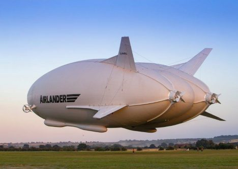 "Gigantic ""Flying Bum"" plane takes to the skies"