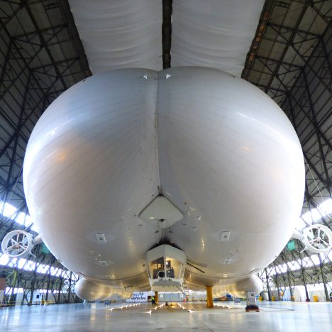 "World's largest aircraft ""the Flying Bum"" prepares for first flight"