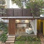 Abraham John Architects transforms pump room into garden lounge for Mumbai film studio