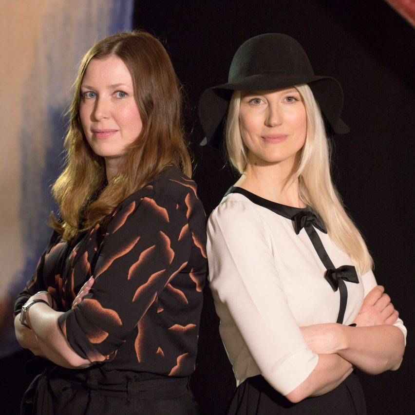 Anna Lindgren and Sofia Lagerkvist of Front: Dezeen hosts party and talks at Stockholm Design Week 2019