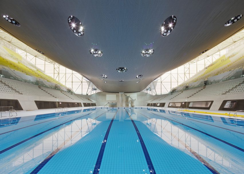 Aquatics Centre by Zaha Hadid, London 2012