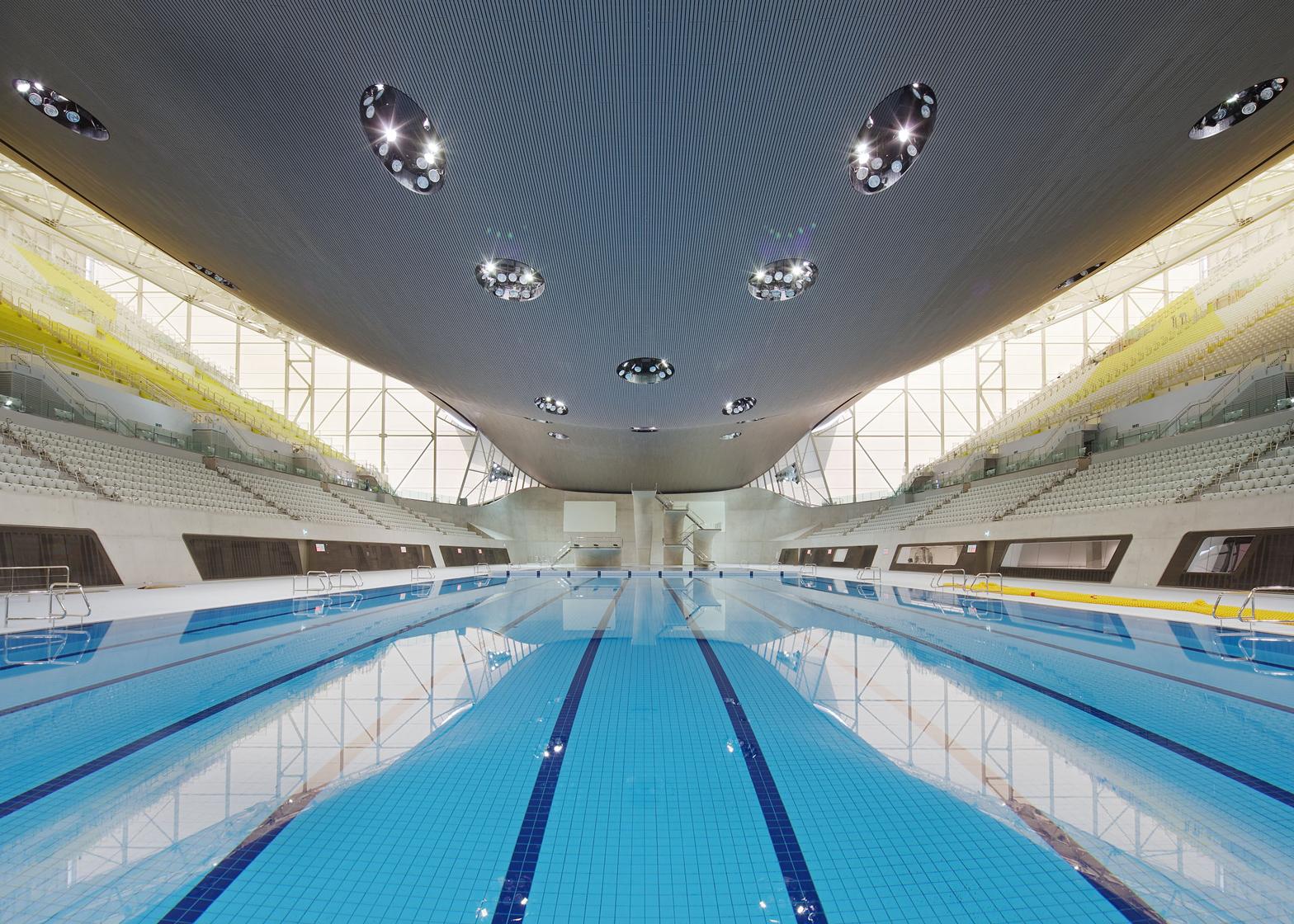 Aquatics Centre by Zaha Hadid, London 2012