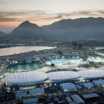 Wilkinson Eyre's Arenas Cariocas form the largest venue at Rio's Barra Olympic Park