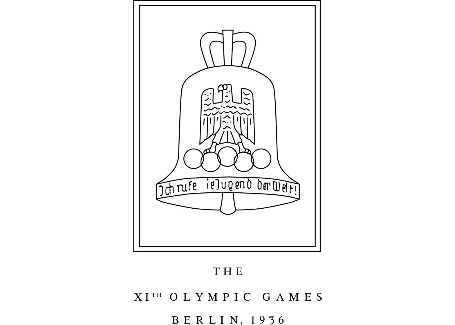 Logo of the 1936 Berlin Olympics