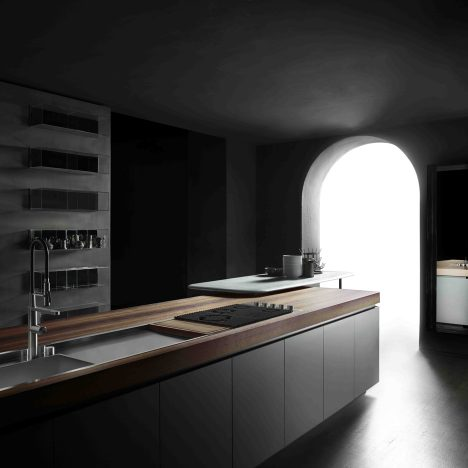 Piero Lissoni designs customisable kitchens and bathrooms for Boffi