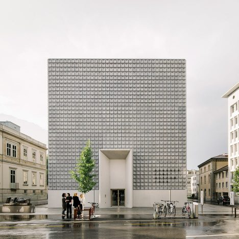 Barozzi Veiga adds gridded concrete extension to Bündner Kunstmuseum