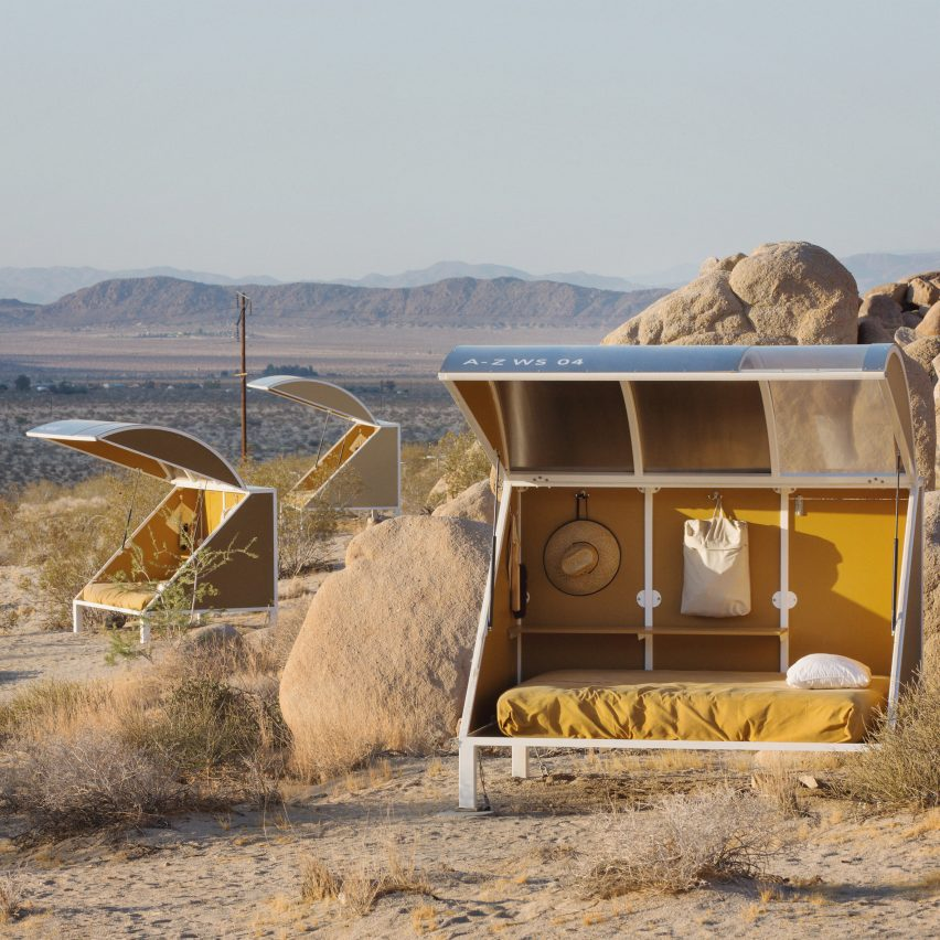Wagon Station Encampment by Andrea Zittel, California