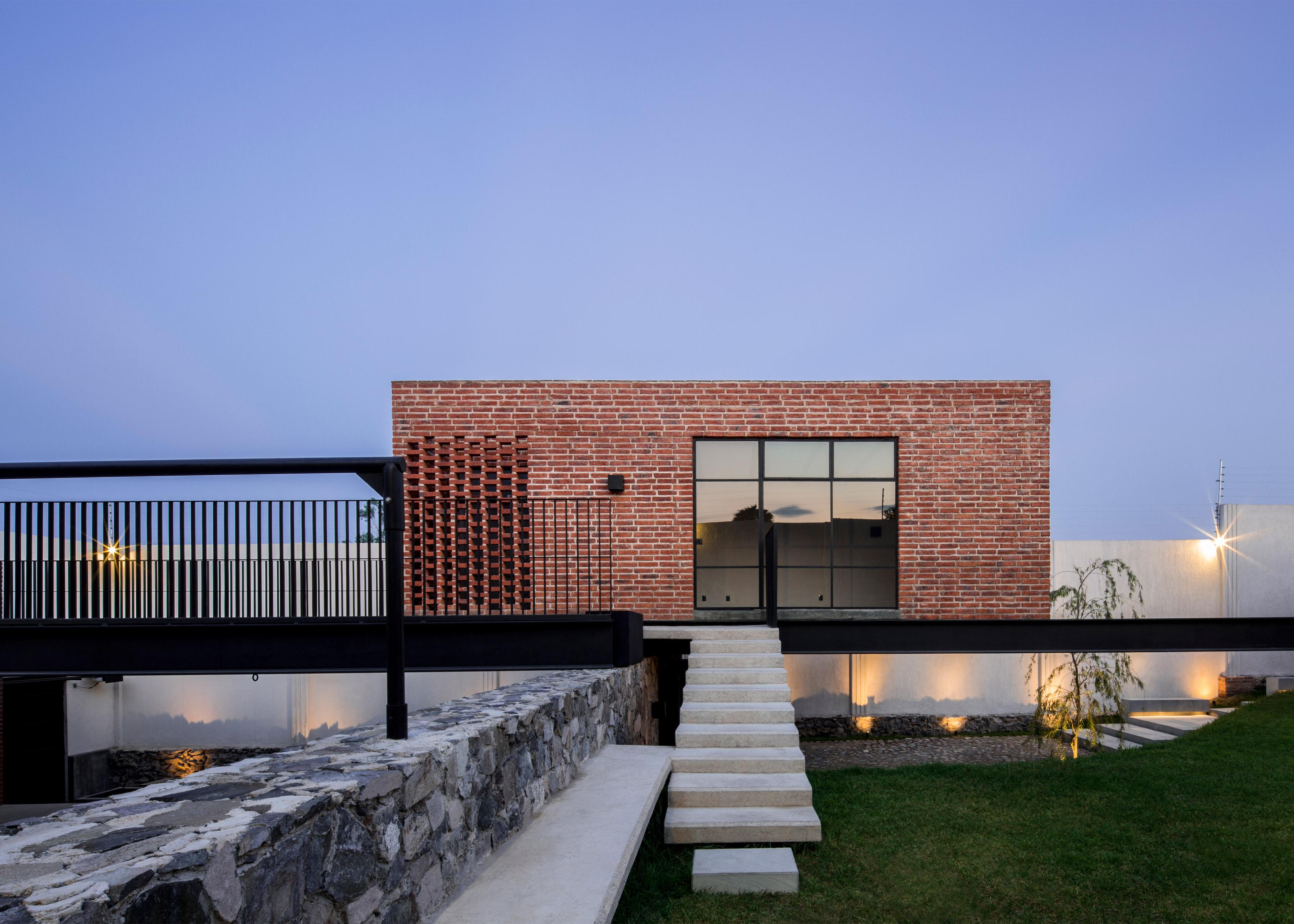 Delfino Lozano\'s Casa G features an elevated brick games room