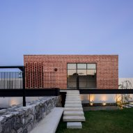 Delfino Lozano's Casa G features an elevated brick games room