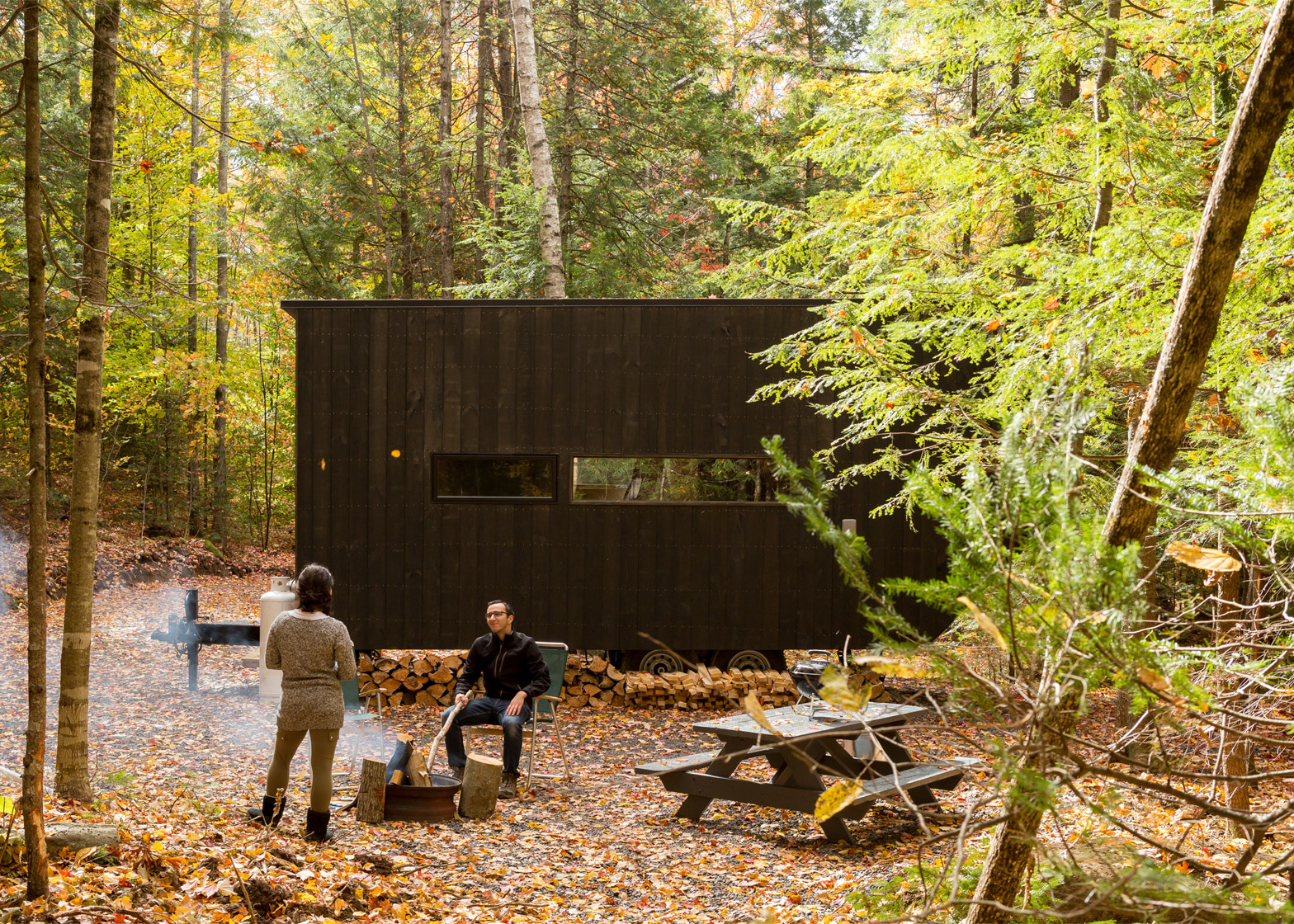 Getaway cabins by Harvard students, New York and Massachusetts