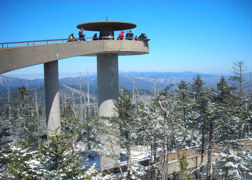 Clingmans Dome observation tower, Great Smoky Mountains National Park, 1959