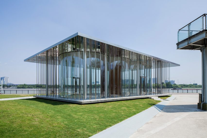 Shl S Cloud Pavilion Is A Glass Walled Events Space In Shanghai