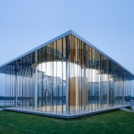 Schmidt Hammer Lassen's Cloud Pavilion is an ephemeral glass-walled events space in Shanghai