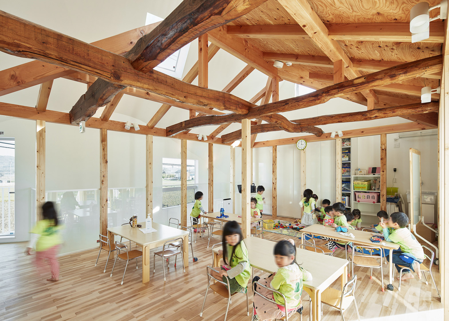 MAD transforms Japanese house into kindergarten with a two-storey slide