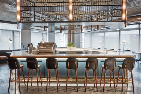 Dropbox opens industrial-style cafeteria by AvroKo at California headquarters