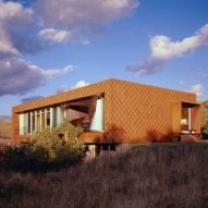 Sparano + Mooney clads Utah residence in hundreds of scale-like steel shingles
