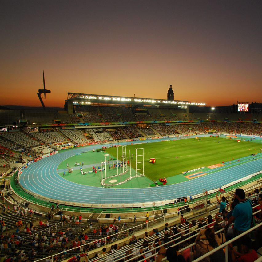 Estadi Olímpic de Montjuïc by Pere Domènech i Roura, Barcelona 1992