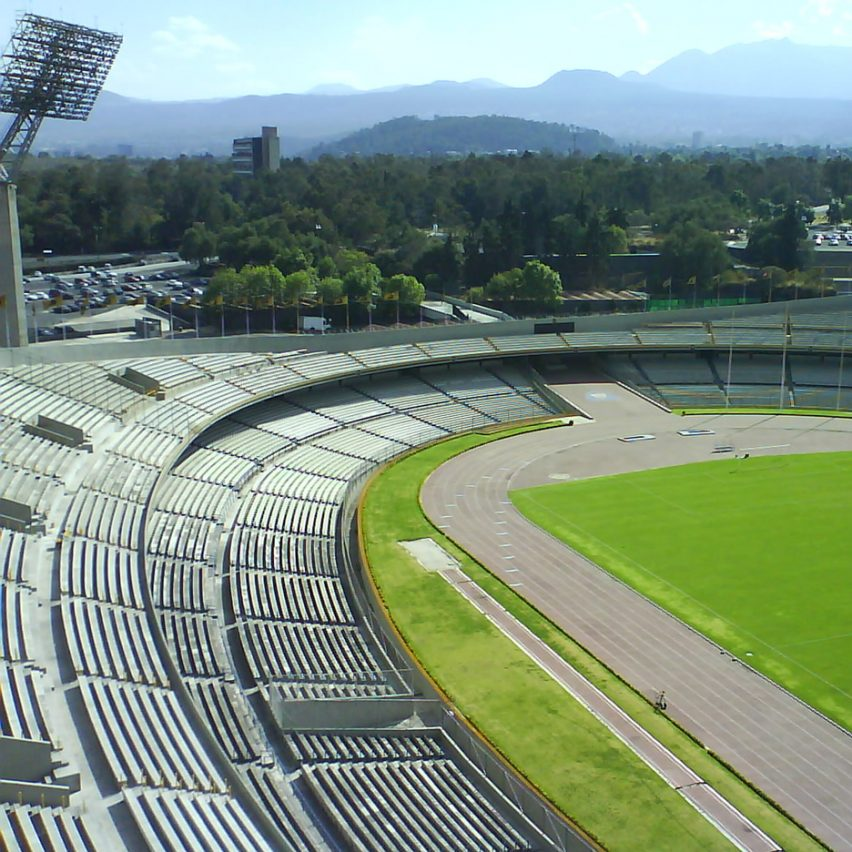 Estadio Olímpico Universitario by Augusto Perez, Raul Salinas and Jorge Bravo Moro, Mexico City 1968
