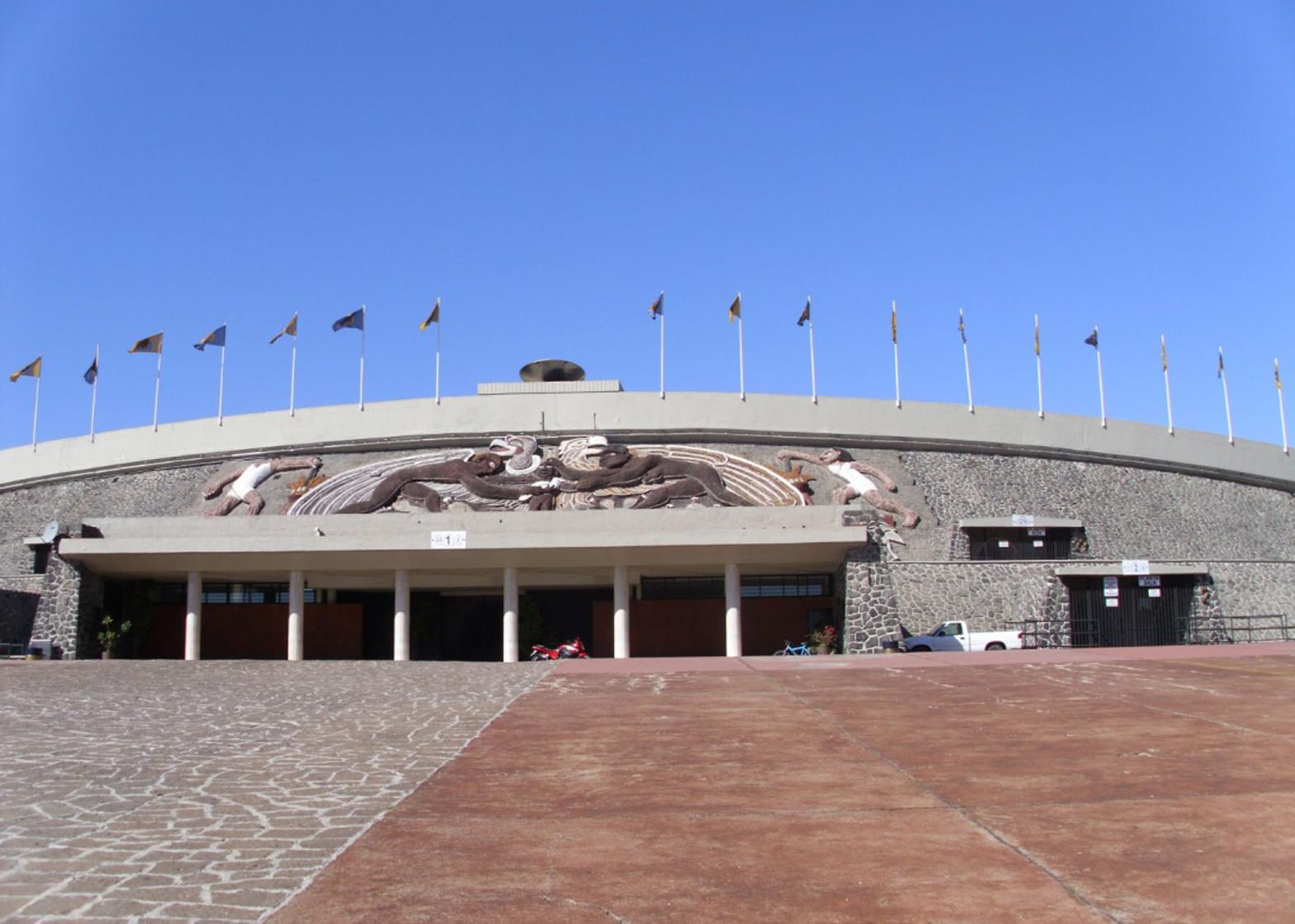 Estadio Olímpico Universitario by Augusto Perez, Raul Salinas and Jorge Bravo Moro, Mexico City 1968