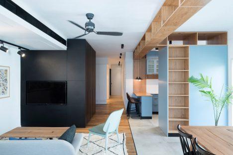 Raanan Stern designs Tel Aviv apartment around long central corridor