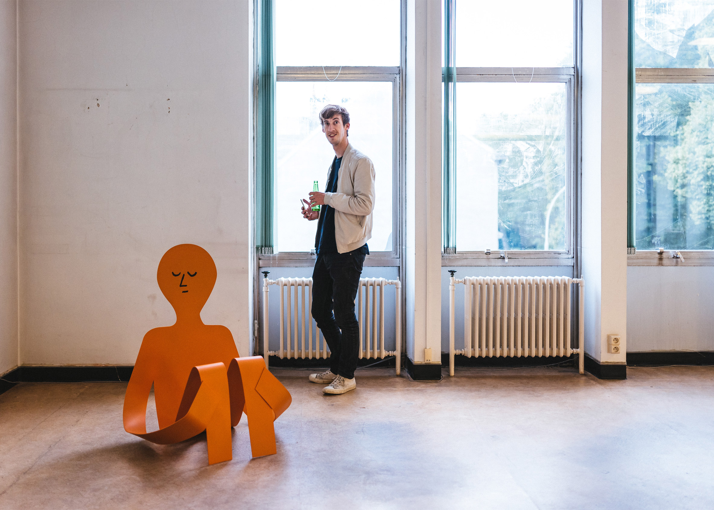 Jean Jullien opens first sculpture exhibition in Ghent's Dift Gallery