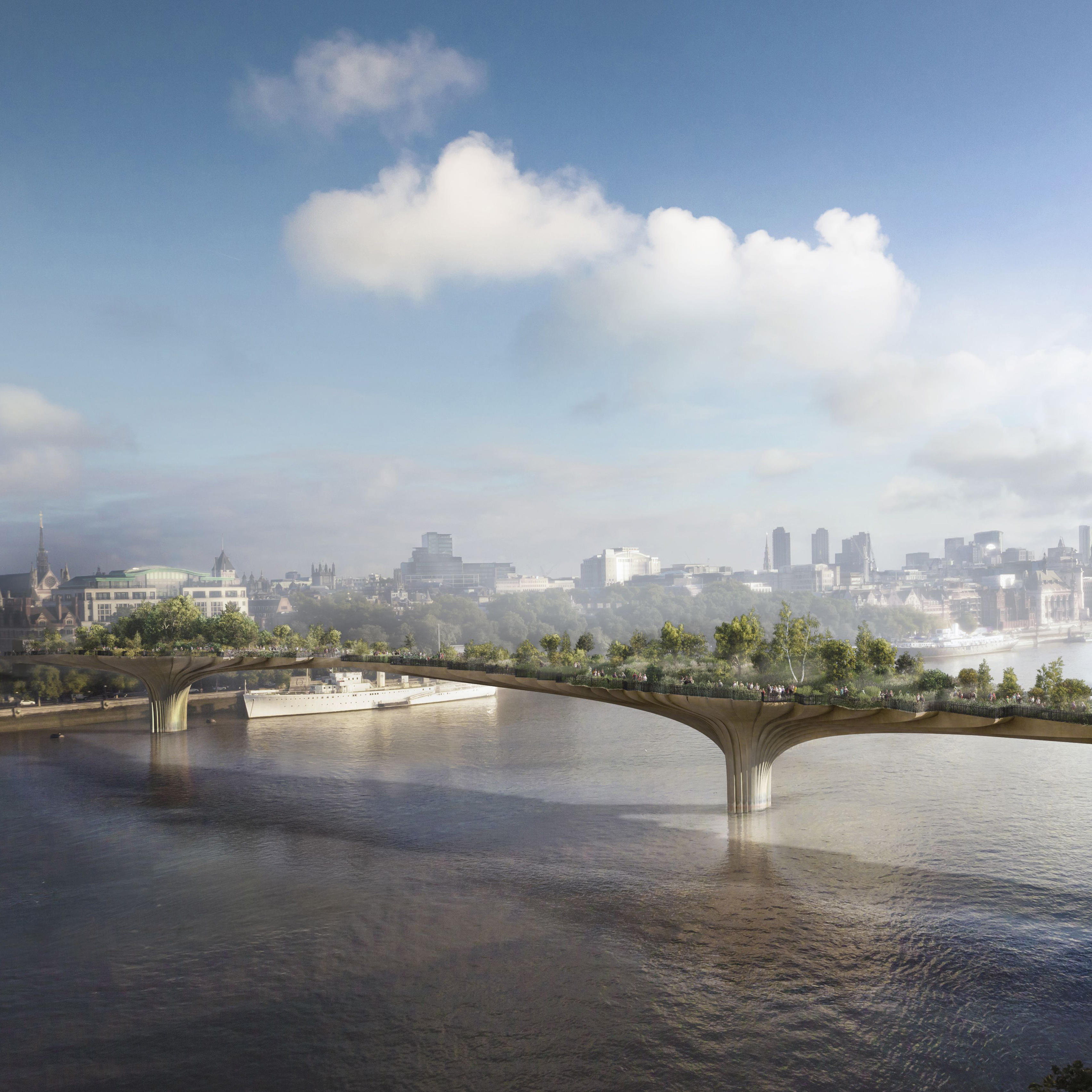Thomas Heatherwick's Garden Bridge design