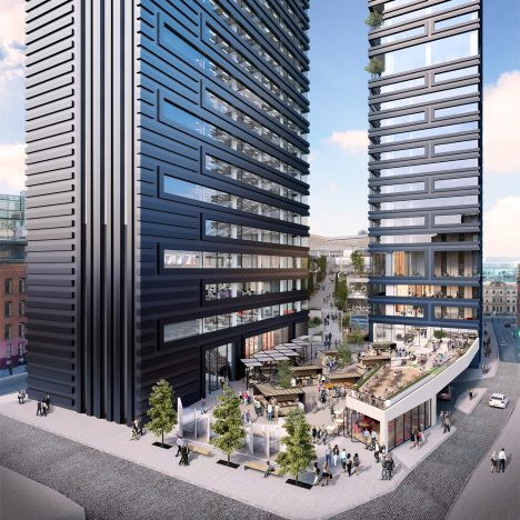 Ryan Giggs and Gary Neville propose Manchester skyscrapers designed by Make