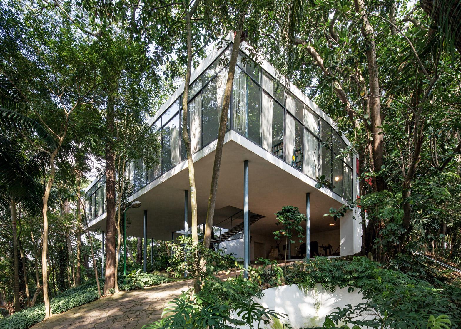 Casa de Vidro, Brazil, by Lina Bo Bardi