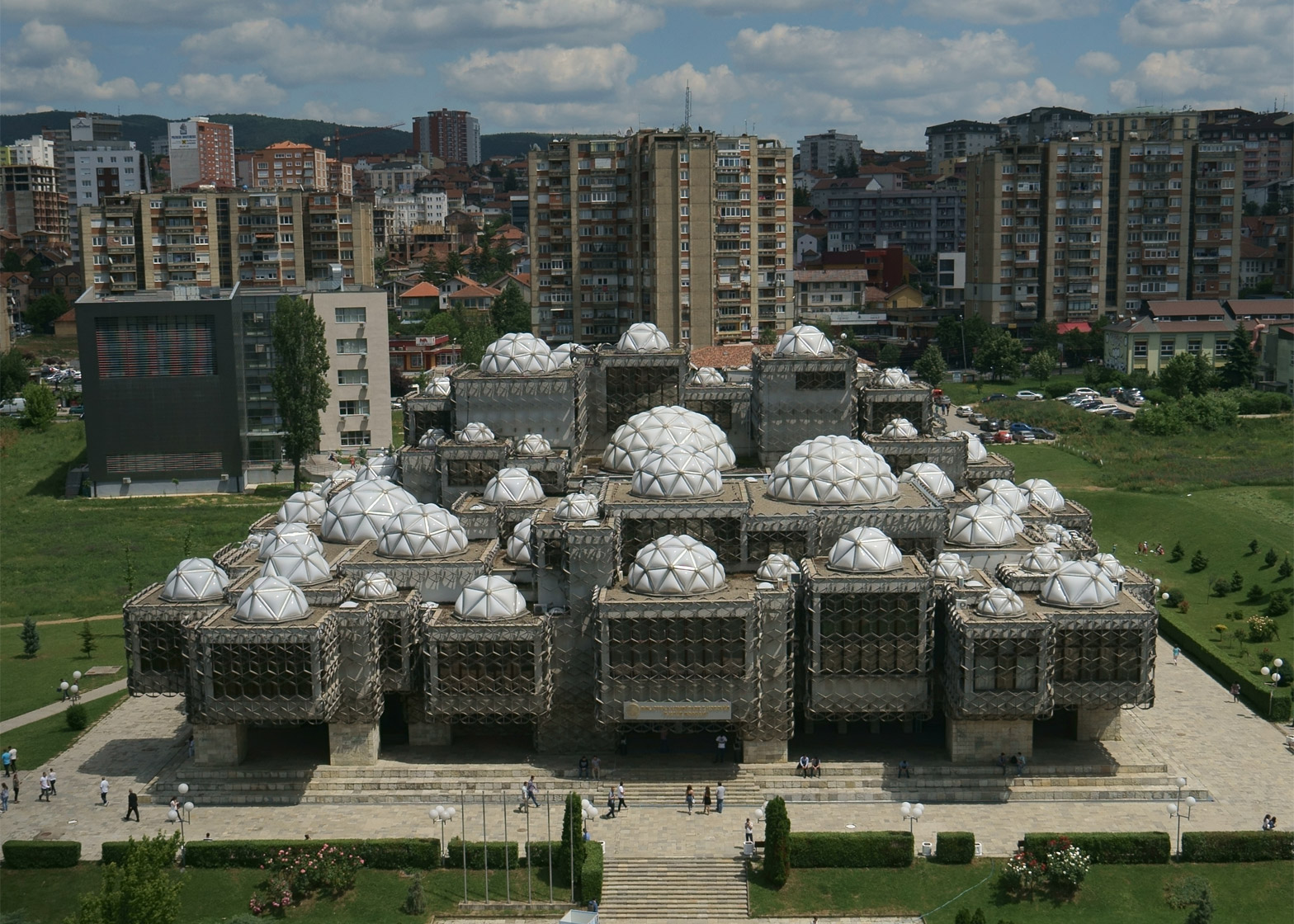 National Library of Kosovo, Kosovo, by Andrija Mutnjakovic
