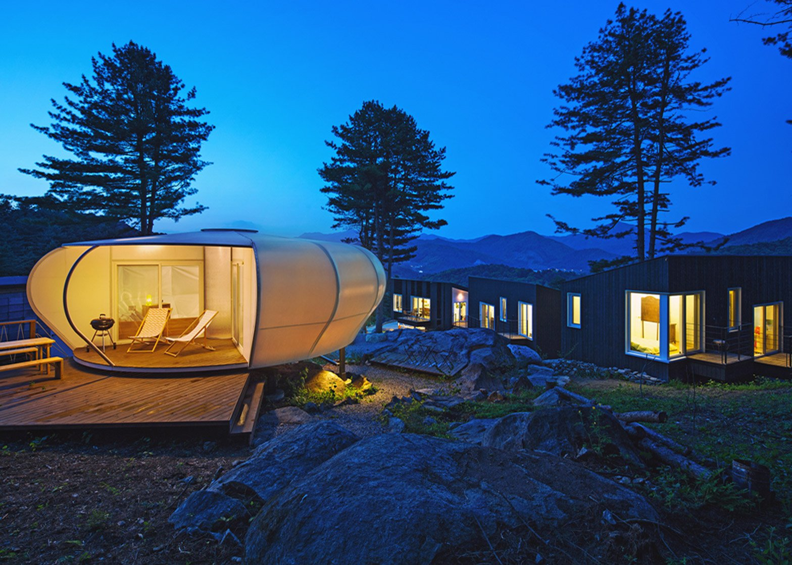 Glamping on the Rock by ArchiWorkshop, South Korea
