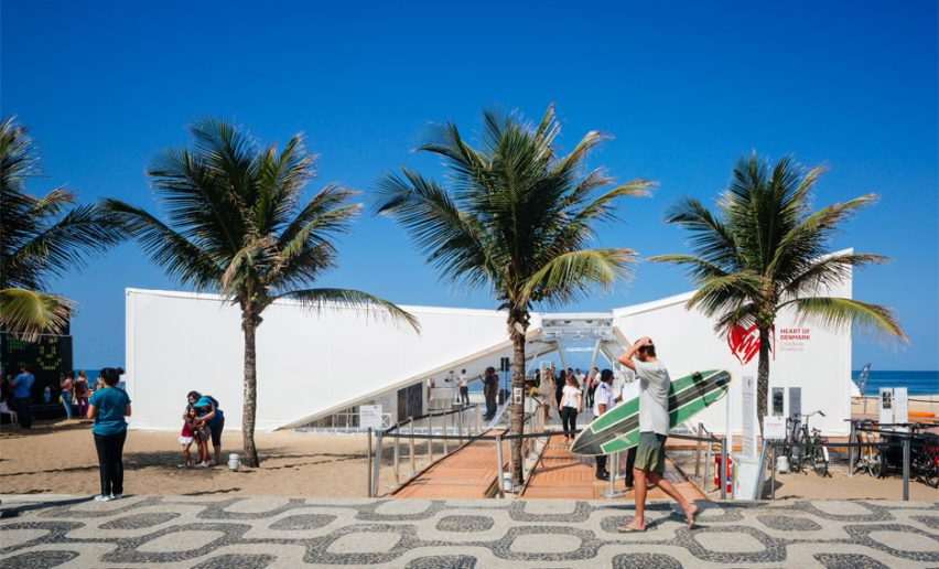 Henning Larsen Architects completes sail-covered pavilion at Rio Olympics