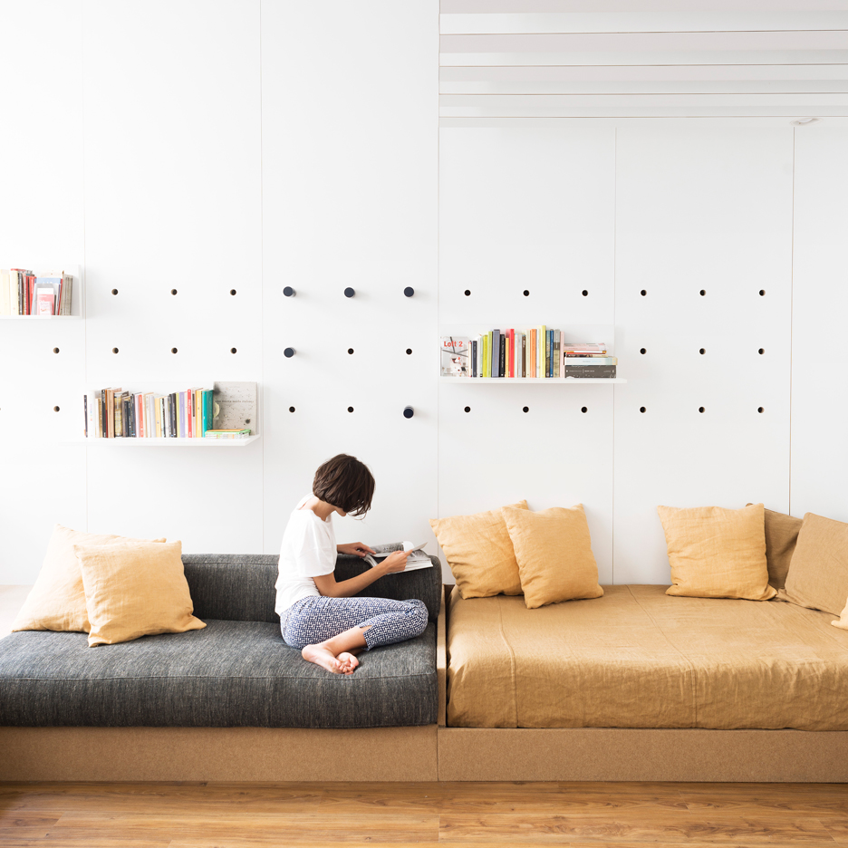 Fold Out Furniture And Storage Solutions Transform Silvia Alloriu0027s Home  Into A Studio