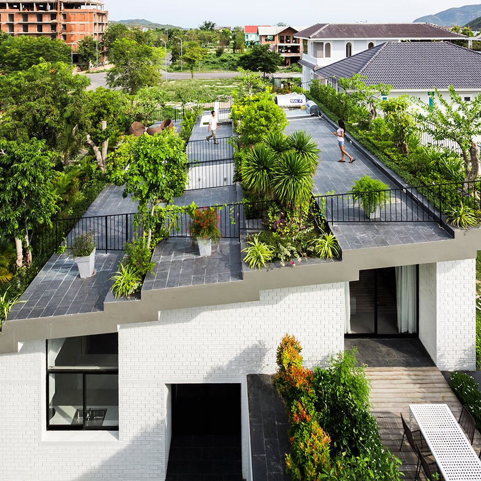 Stepped garden tops House in Nha Trang by Vo Trong Nghia and Masaaki Iwamoto