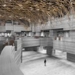 Neri&Hu mimics rocks and tree branches inside Shanghai theatre and exhibition centre