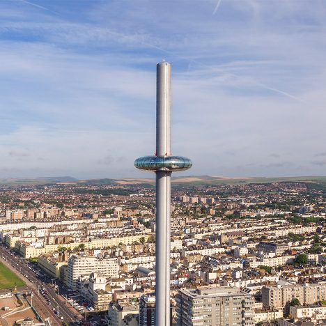 """World's tallest moving observation tower"" filmed by drones ahead of opening this week"