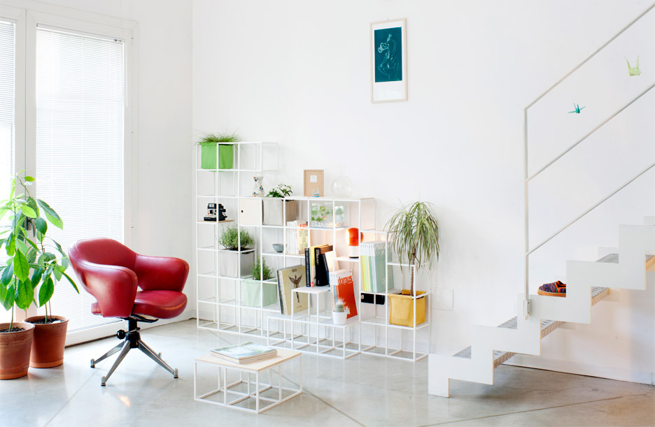 Supercake combines shelves and plant pots in modular system