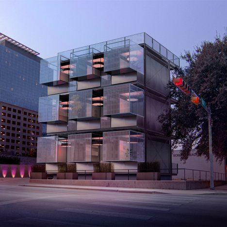 "Kasita unveils prefabricated tiny houses that slot into ""racks"" like wine bottles"