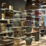Kengo Kuma designs kitchen built from pots, pans, baskets and utensils