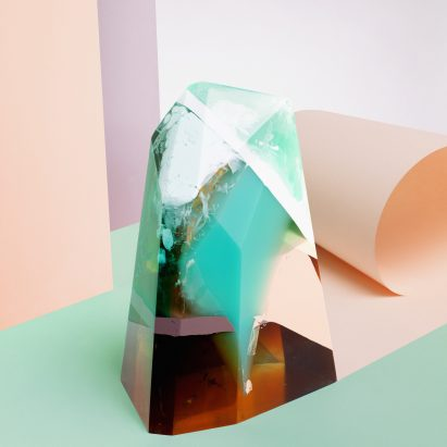 Zuza Mengham interprets perfume in resin for Sculpting Scent exhibition