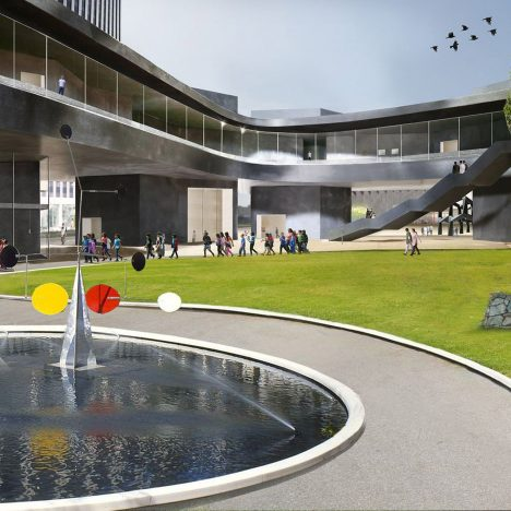 Peter Zumthor releases updated visuals of serpentine LACMA overhaul