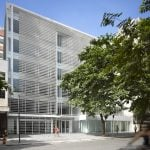 Richard Meier's Leblon Offices in Rio feature horizontal louvres and vertical gardens