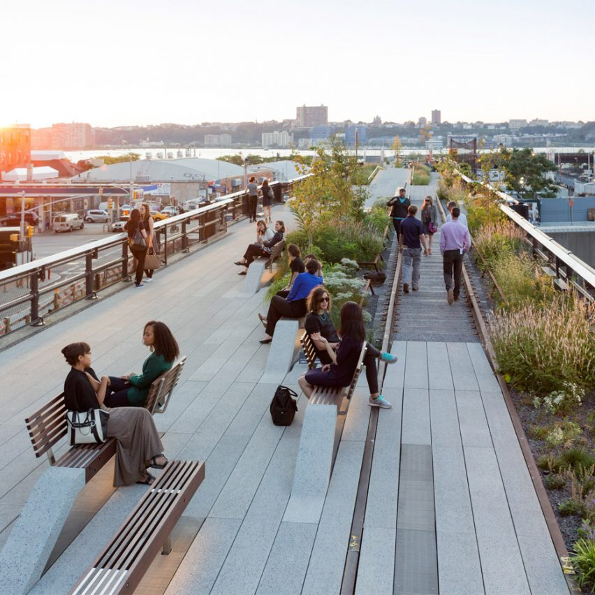 DS + R participated in the design of the High Line, which has been transformative for the neighbourhood. Photograph is by Iwan Baan