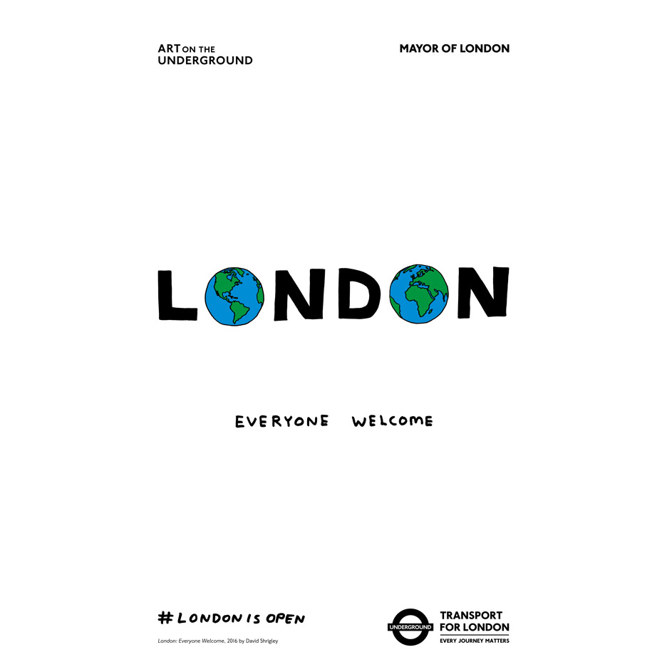 London is open campaign by Sadiq Khan and David Shrigley