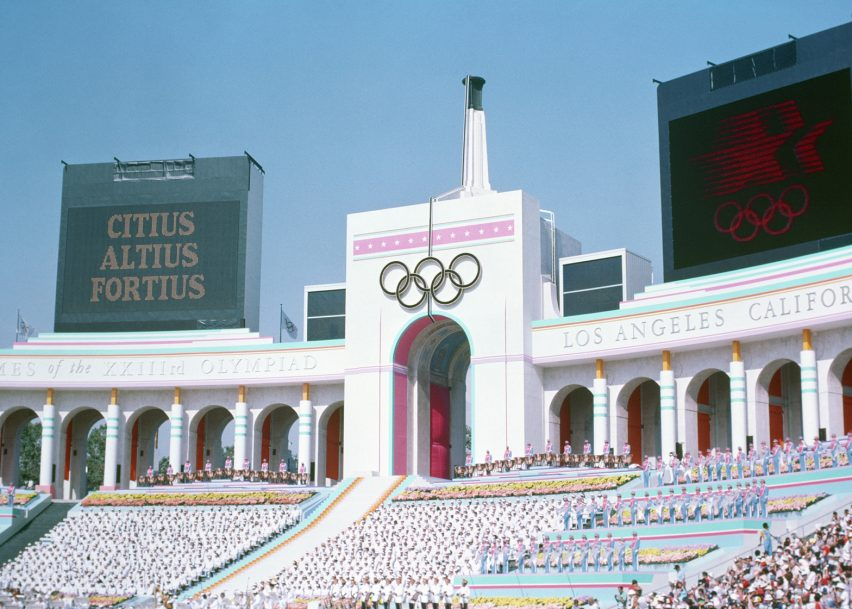 Los Angeles Memorial Coliseum by John and Donald Parkinson, Los Angeles 1932 and 1984